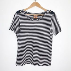 Tory Burch striped crew neck sweater top